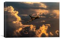 Vulcan Flying Forever, Canvas Print
