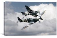 Spitfire Flying Legends, Canvas Print