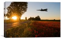 Bomber Sundown, Canvas Print