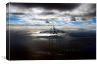 Over The English Channel, Canvas Print