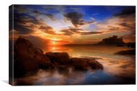 Bamburgh Sunset, Canvas Print