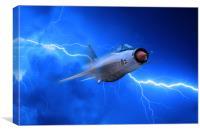 Lightning Force, Canvas Print