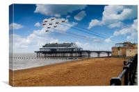 Red Arrows At Cleethorpes, Canvas Print