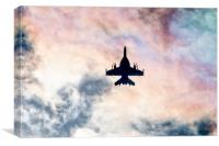 Super Hornet Silhouette, Canvas Print