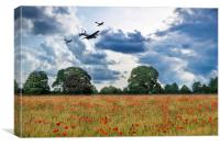 BBMF Remembrance , Canvas Print