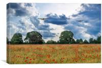 Bombers Overhead, Canvas Print