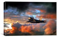 Raptor Launch, Canvas Print