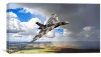Flying With XH558, Canvas Print