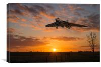 XH558 Comes Home, Canvas Print