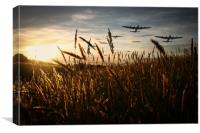The Lancaster Bombers, Canvas Print