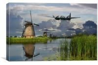 Mossie at the Mill, Canvas Print
