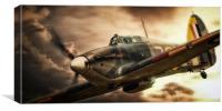 Hurricane Fighter, Canvas Print