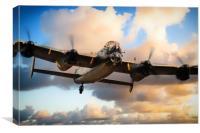 Lancaster Bomber - Skippy, Canvas Print