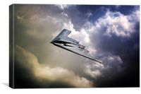 B-2 Spirit Fly By, Canvas Print