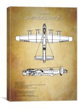 Avro Lancaster Bomber, Canvas Print