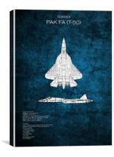 Sukhoi PAK T-50, Canvas Print