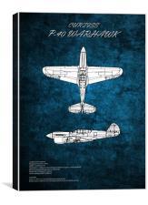 Curtiss P-40 Warhawk, Canvas Print
