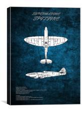 Supermarine Spitfire, Canvas Print