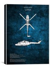 Westland Lynx, Canvas Print