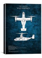 Bell Boeing V-22 Osprey, Canvas Print