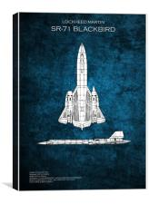 SR71 Blackbird, Canvas Print