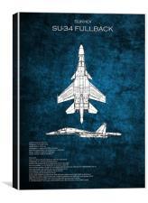 SU-34 Fullback, Canvas Print