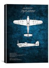 Hawker Typhoon, Canvas Print
