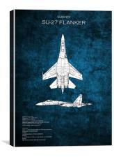 SU-27 Flanker, Canvas Print