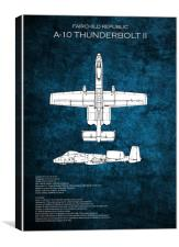 A-10 Thunderbolt II, Canvas Print