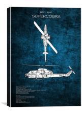 AH-1 SuperCobra, Canvas Print