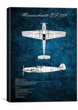 Messerschmitt BF-109, Canvas Print