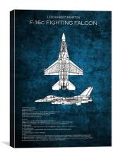 F16 Fighting Falcon, Canvas Print