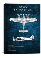 Bristol Beaufighter, Canvas Print