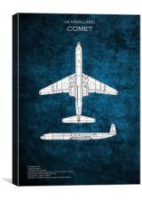 de Havilland Comet, Canvas Print