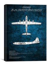 B29 Superfortress, Canvas Print