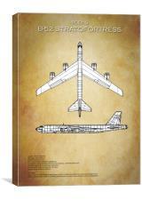 B52 Stratofortress Blueprint, Canvas Print