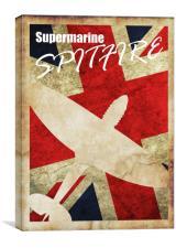 Vintage Spitfire poster, Canvas Print