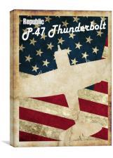 Vintage P-47 Thunderbolt Poster, Canvas Print