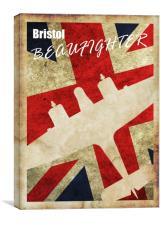 Bristol Beaufighter Vintage, Canvas Print
