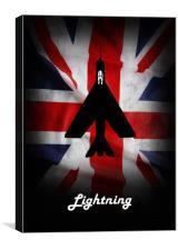 English Electric Lightning Union Jack, Canvas Print