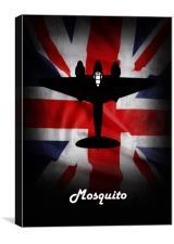 de havilland Mosquito Union Jack, Canvas Print