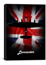 Lancaster Bomber Union Jack, Canvas Print