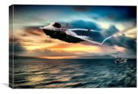 Lightning  Launch, Canvas Print