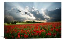 Spitfires - The Last Mission, Canvas Print
