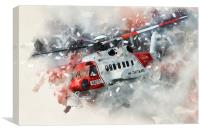 Sikorsky S92, Canvas Print