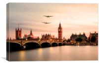 Lancasters Visit London, Canvas Print