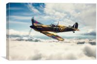 Spitfire P7350, Canvas Print