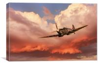 Spitfire Beautiful Warrior, Canvas Print