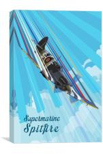 Spitfire Pop, Canvas Print