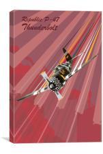 P-47 Thunderbolt Pop Art, Canvas Print